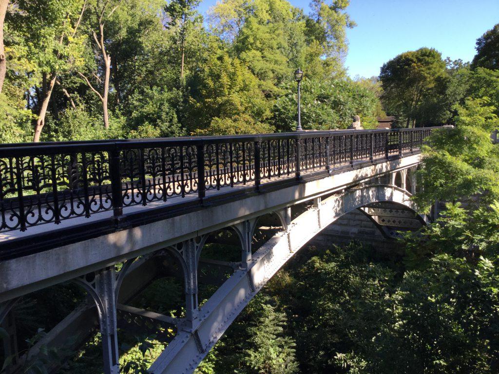 One of the Lake Park Lion Bridges. Photo by Cari Taylor-Carlson.