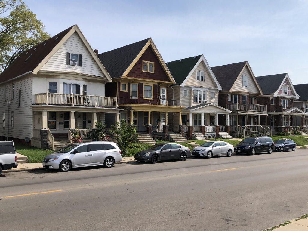 Houses on W. Windlake Ave. Photo by Jeramey Jannene.
