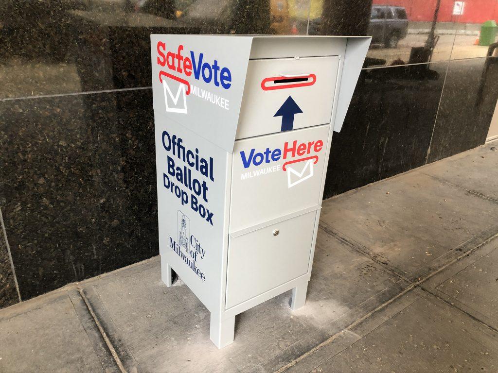 A SafeVote dropbox. Photo by Jeramey Jannene.