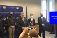 Attorney General William Barr addresses the media on September 22nd. Photo by Jeramey Jannene.