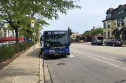 MCTS bus on N. Van Buren St. Photo by Dave Reid.