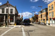 MCTS bus on E. Brady St. Photo by Dave Reid.
