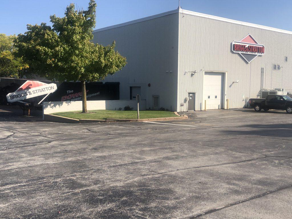 Briggs & Stratton warehouse. Photo by Michael Rosen/Wisconsin Examiner.