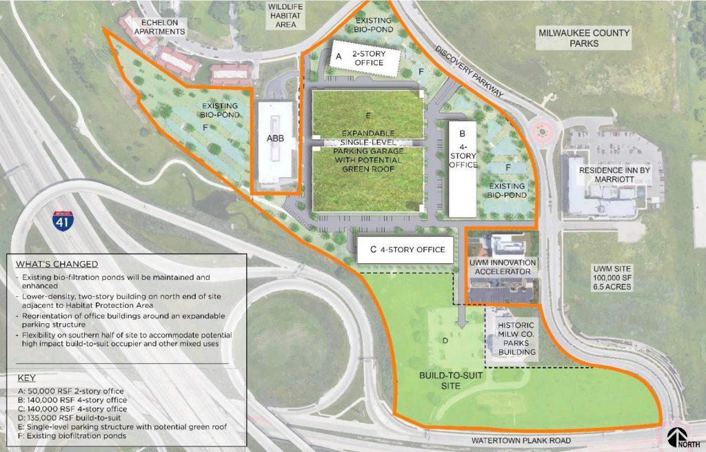 Development Plan for UWM Innovation Campus. Source Irgens.