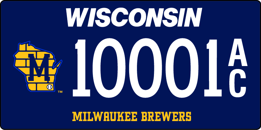 DMV releases new Milwaukee Brewers license plates