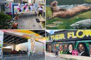 New downtown murals. Photos by Jeramey Jannene, Graham Kilmer and Milwaukee Downtown.