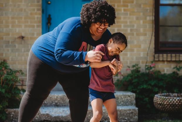 Elizabeth Stroik of Milwaukee with her 4-year-old son, David. Photo courtesy of Elizabeth Stroik