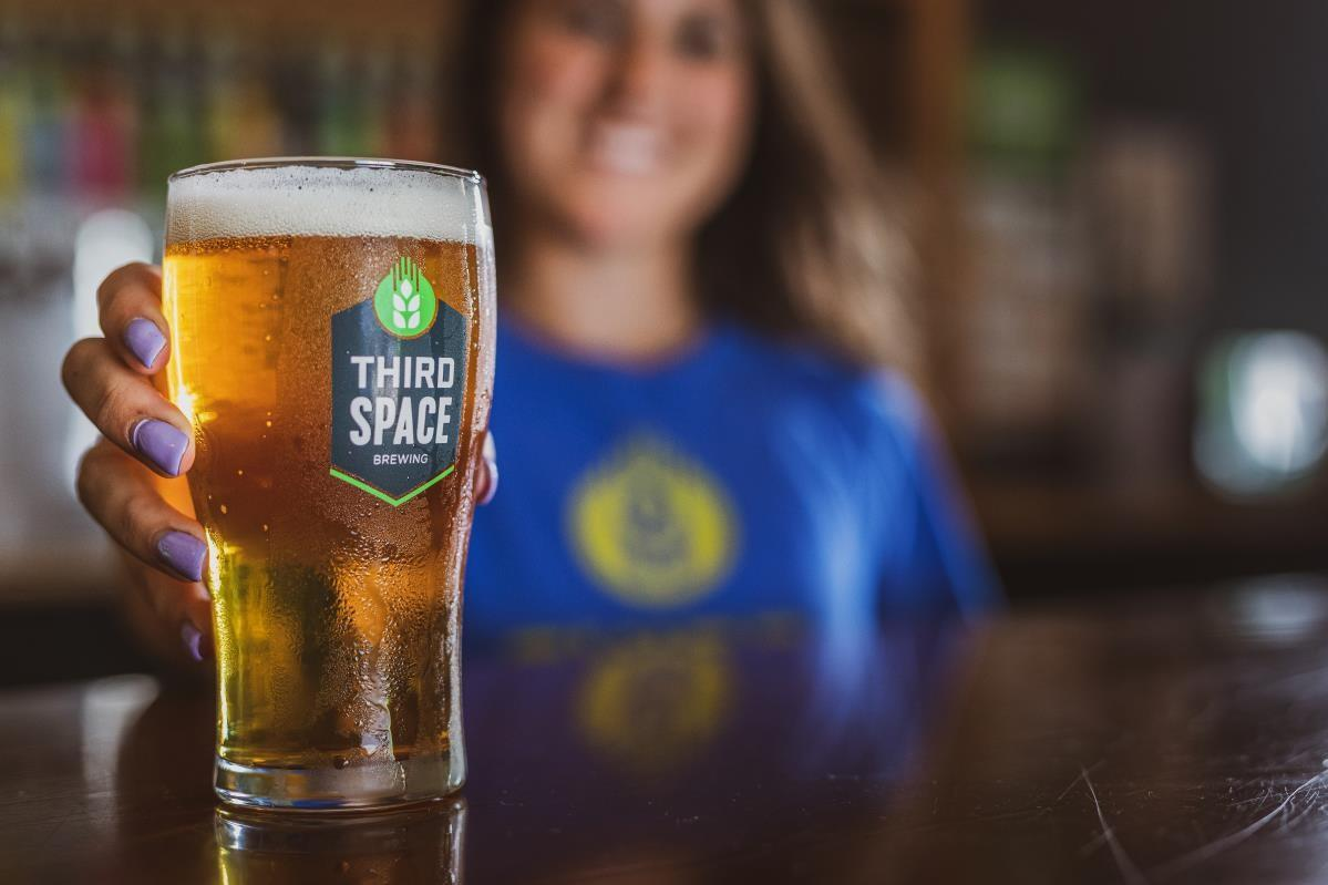 A pint of Third Space Brewing's flagship Midwest Pale Ale, Happy Place. Photo courtesy of Third Space Brewing