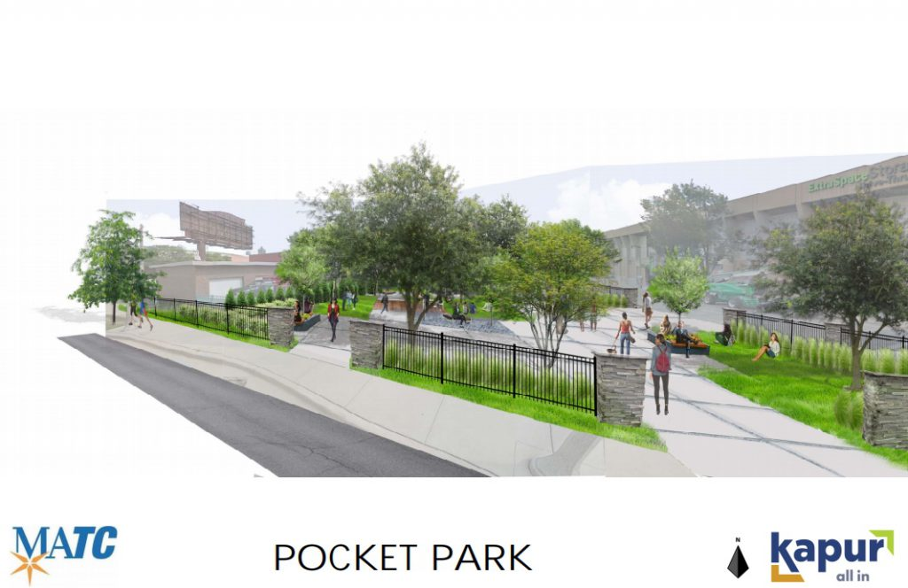 MATC Pocket Park rendering. Image from MATC.
