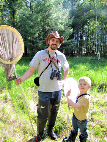 Ryan Chrouser's extensive contributions toward documenting Wisconsin's dragonflies and damselflies has earned him a 2020 Wisconsin Citizen-based Monitoring Award. / Photo Credit: Wisconsin DNR
