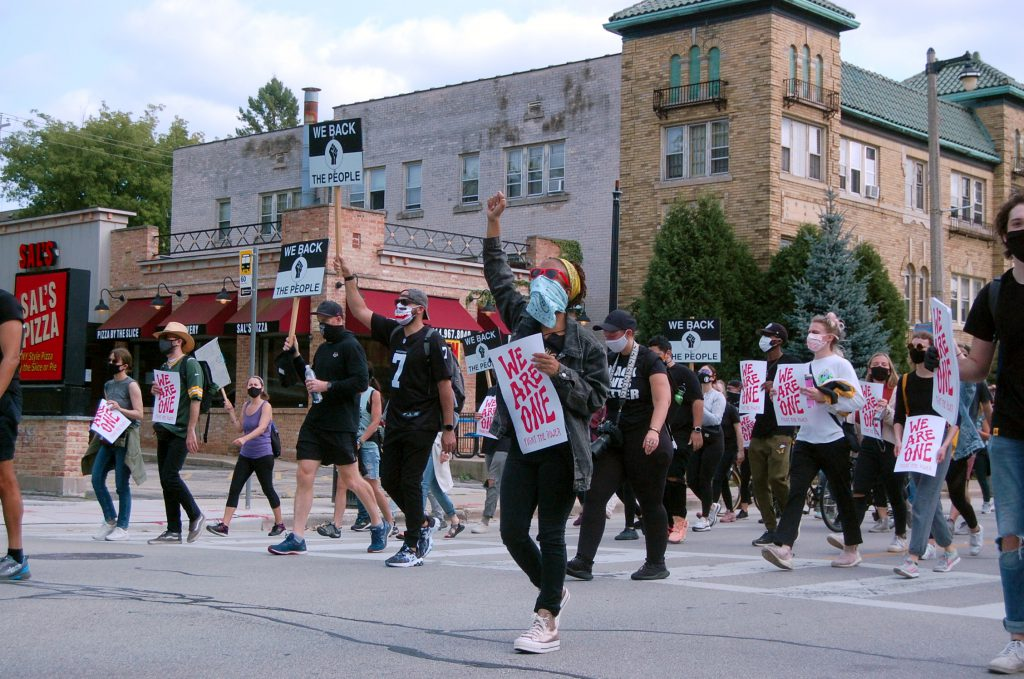 A Black Lives Matter protest in Milwaukee on September 13th, 2020. Photo by Ethan Duran.