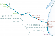 Twin Cities-Milwaukee-Chicago train map. Image from the Minnesota Department of Transportation.