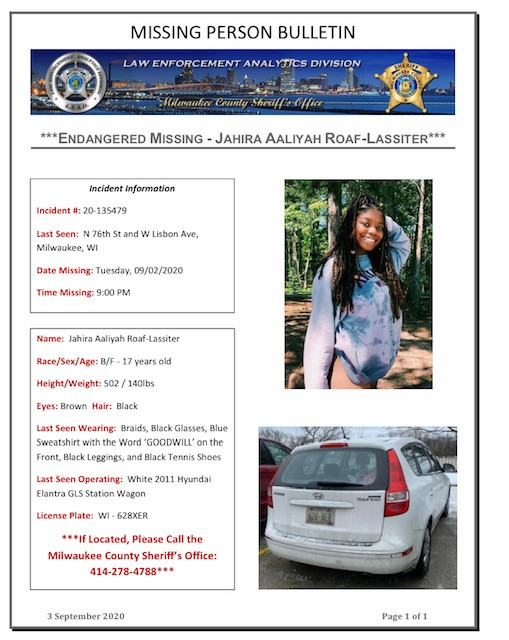 MCSO is Asking for the Public's Assistance in Locating an Endangered Missing Person
