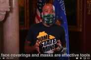 Lt. Gov. Mandela Barnes appears in a PSA on COVID-19 prevention. (Screen capture from DHS YouTube broadcast)