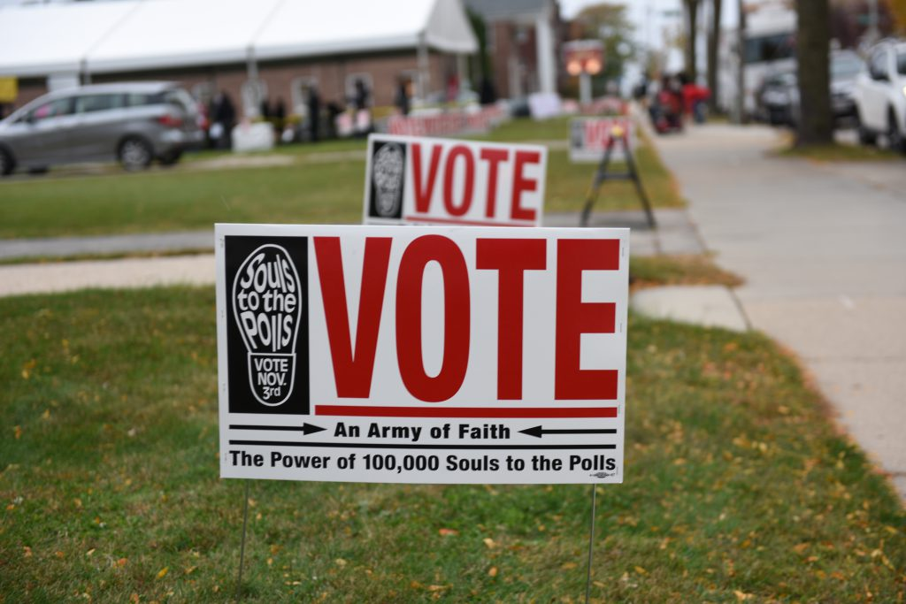 "There are a number of resources available for disabled voters in Milwaukee, including curbside voting and ""indefinitely confined"" voting. File photo by Sue Vliet/NNS."