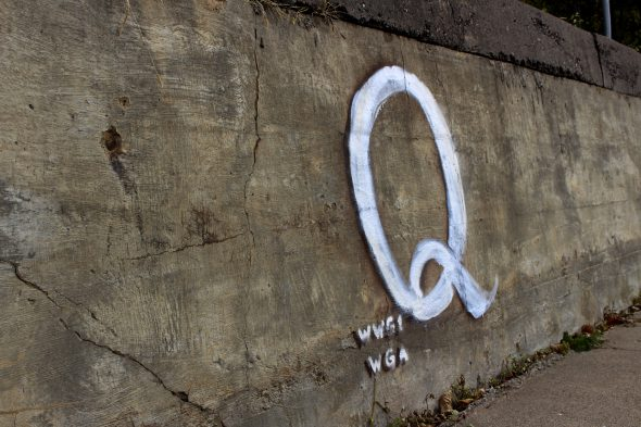 QAnon is a baseless far-right conspiracy theory that claims Donald Trump is fighting a deep state cabal of pedophiles that includes Democrats and celebrities. Henry Redman | Wisconsin Examiner