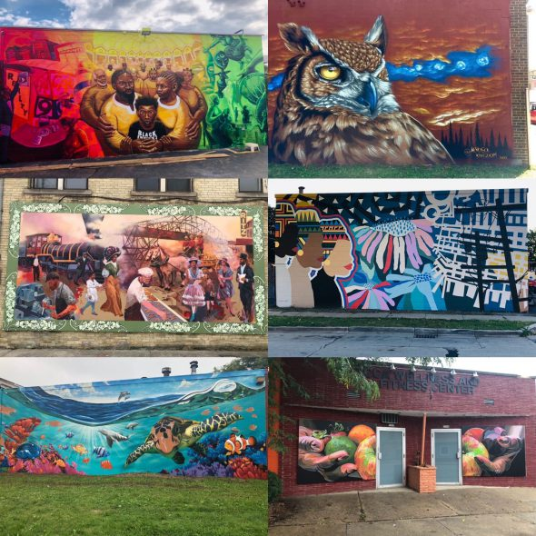 """This collection of six murals, dubbed """"Visual Vibes on Villard,"""" was completed this summer despite the pandemic. Photo provided by Angelique Sharpe/NNS."""
