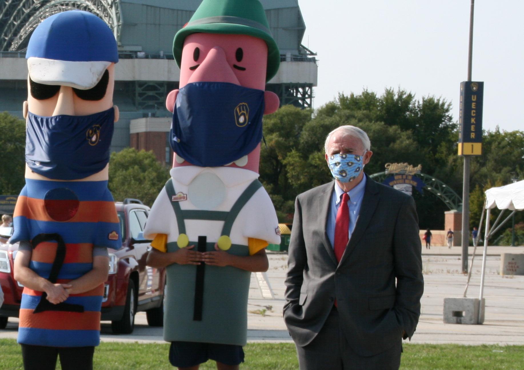 Mayor Tom Barrett at a voter registration rally at Miller Park. Photo by Jeramey Jannene.