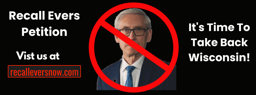 Governor Tony Evers recall effort Facebook graphic. Image from Recall Evers Petition