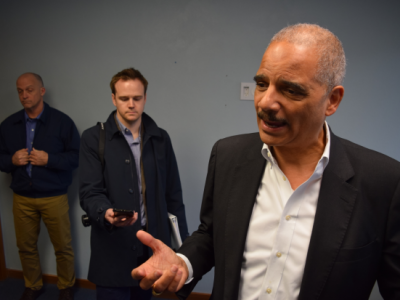 Eric Holder Meets With State Redistricting Commission