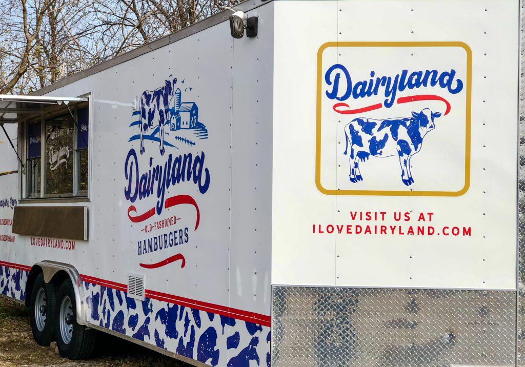 Dairyland Old-Fashioned Hamburgers food trailer. Photo courtesy of Dairyland Old-Fashioned Hamburgers.
