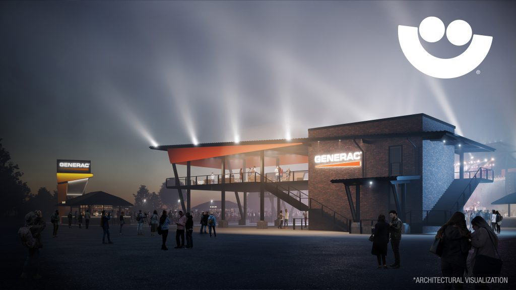 Generac Power Stage Render. Rendering from Milwaukee World Festival, Inc.