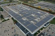 Solar installation on Harley-Davidson's Pilgrim Road Powertrain Operations. Photo courtesy of We Energies.