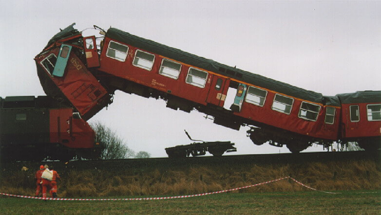 """""""Regstrup train collision"""" by Hrafnin via Wikimedia. CC BY 2.0 https://creativecommons.org/licenses/by/2.0/legalcode"""