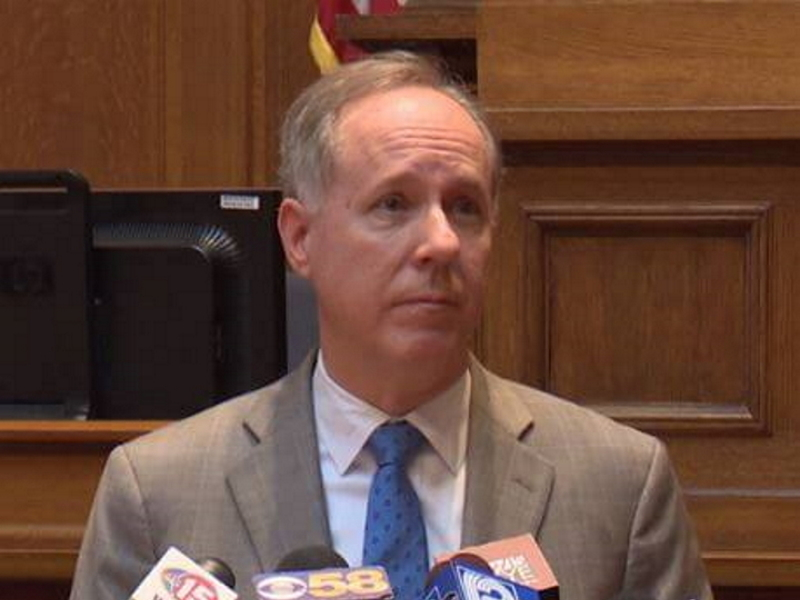Speaker Robin Vos at 11/17/20 news conference. Photo by Melanie Conklin/Wisconsin Examiner.