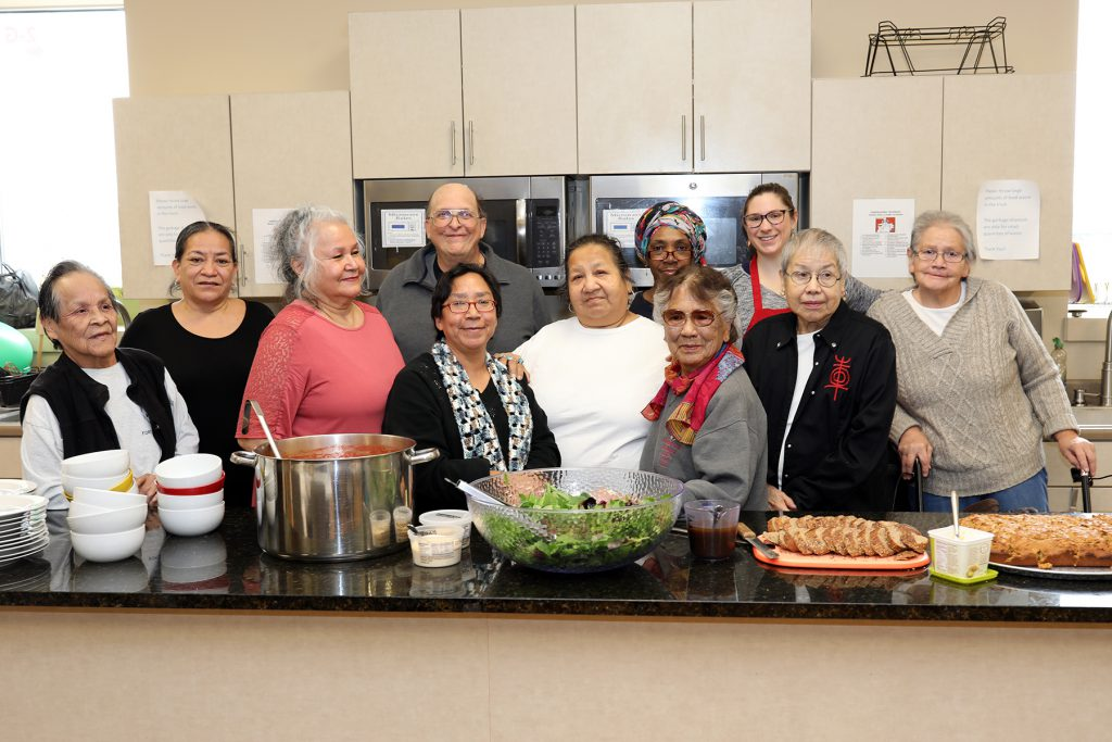 The WOLFE Group gathers for one of its regular healthy meals before COVID-19. Photo provided by Gerald L. Ignace Indian Health Center/NNS.
