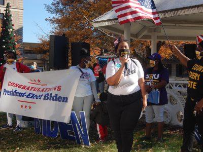 Biden Supporters Celebrate Downtown