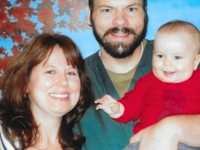 Anna Wineland with her fiance Will Fleming and their son Rune in 2017. Fleming is being held at Kettle Moraine Correctional Institution. Photo courtesy of Anna Wineland