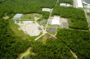 An aerial photo of Tyco's Fire Training Center in Marinette. Photo from Johnson Controls International.