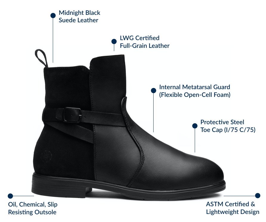 Xena Workwear launches first-ever stylish Metatarsal Safety Boot for Women in Demanding Industries