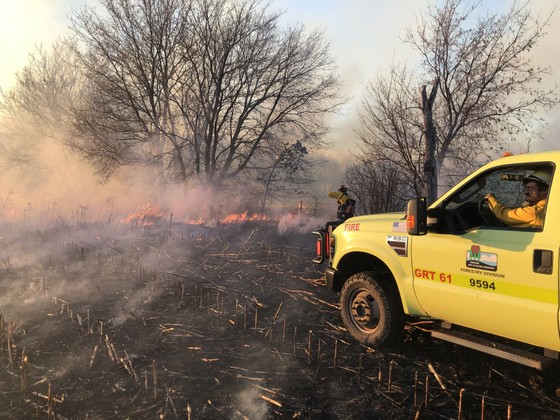 Fire control officials expect to see even more fires over the weekend with dry and windy conditions in the forecast. / Photo Credit: Wisconsin DNR