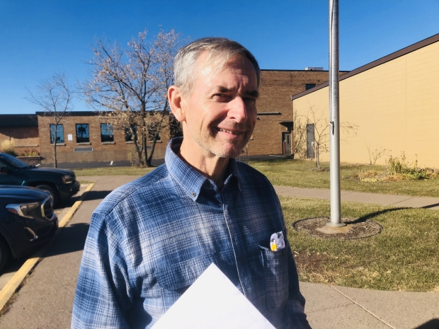 Village of Superior resident Gary Lavalley, 68, said outside the Superior post office on Wednesday, Nov. 4, 2020, that he voted for Trump because he favored the president's tax policies over Biden's proposal. He thought Biden would've won in a landslide because of Trump's demeanor. Danielle Kaeding/WPR