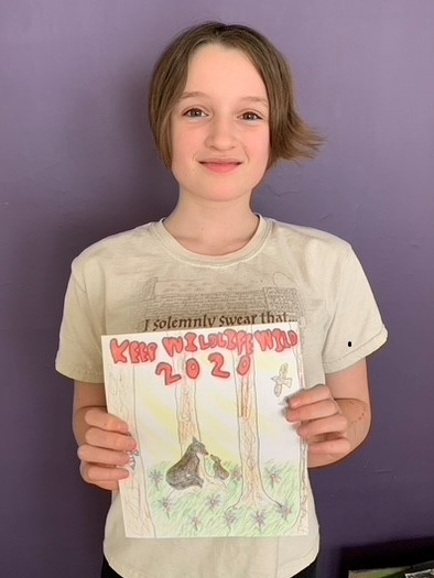 First place poster contest winner Mabel Dance in the fifth-grade category in 2020. / Photo Credit: Jenny Dance