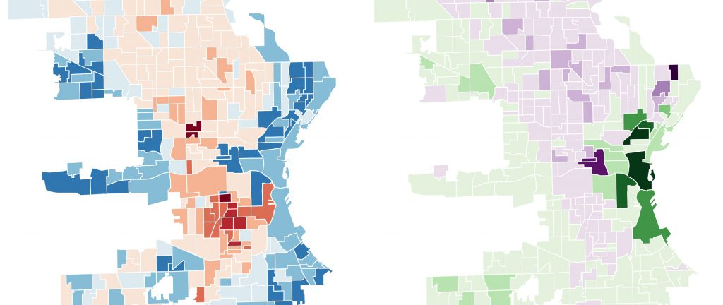 City of Milwaukee voter data maps. Maps by John D. Johnson, Marquette University.