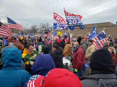 Trump Rally Becomes Confrontation