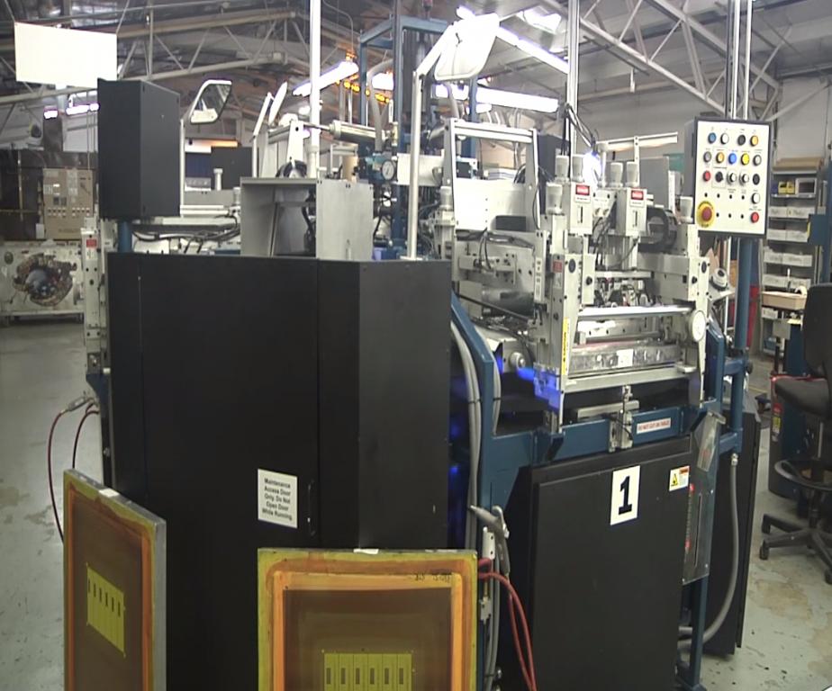 Printing equipment at Empire Screen Printing, a Green Tier printer based in Onalaska, WI. / Photo Credit: Wisconsin DNR