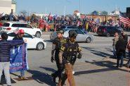 Proud Boys at MAGA rally. Photo by Ethan Duran.