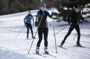 People cross-country ski on Monday, Dec. 21, 2020, at Elver Park in Madison, Wis. Angela Major/WPR