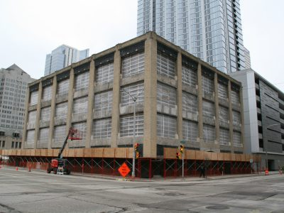 Friday Photos: Downtown Building Stripped To Its Core
