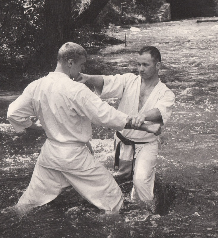 """David Couper in action with the University of Minnesota Karate Club during the early 1960s. Couper says martial arts played a central role in how he lives and works. """"I tried to live and teach these core values of a martial artist: character, sincerity, effort, etiquette and self control,"""" Couper says. """"Think about how each one of these values is also essential for being an effective police officer."""" Courtesy of David Couper"""