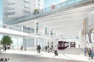 The Couture transit concourse. Rendering by RINKA.