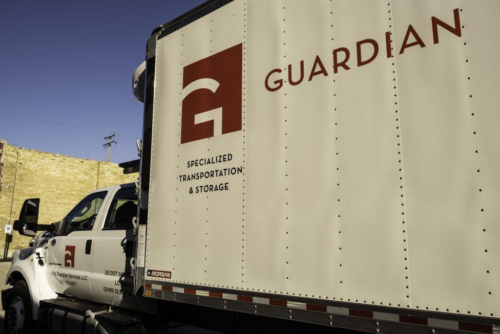 Guardian Truck. Photo courtesy of Guardian Fine Arts.