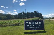 A Trump sign on the side of the road in Buffalo County. Photo by Ruth Conniff/Wisconsin Examiner.