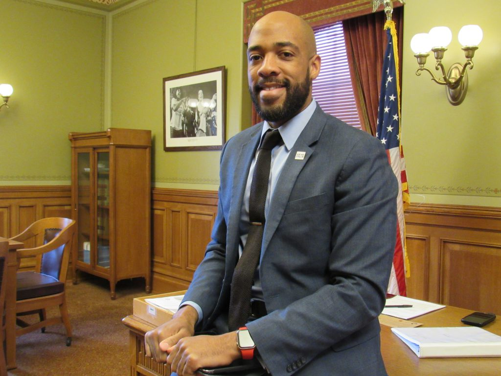 Lt. Gov. Mandela Barnes in his office. File photo by Isiah Holmes/Wisconsin Examiner.
