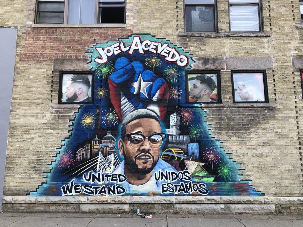 A mural honoring Joel Acevedo on W. Greenfield Ave. Photo by Jeramey Jannene.