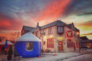 Kegel's Inn Brrr Garden with yurts. Photo courtesy of Kegel's Inn.